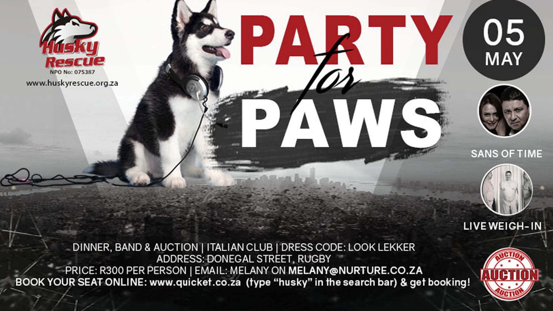 Party for Paws Cape Town - Husky Rescue South Africa